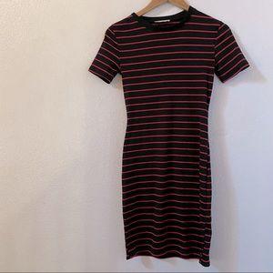 Zara cute striped bodycon dress small
